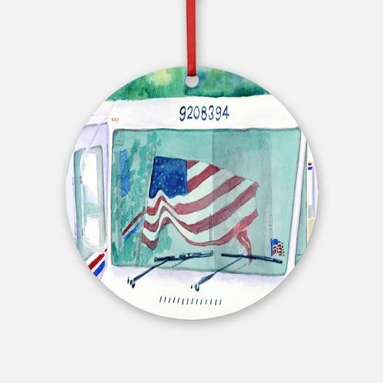 Mail Truck Ornament (Round)