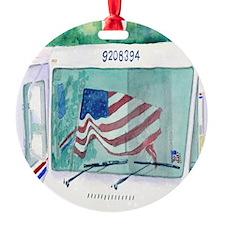 Mail Truck Ornament