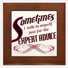 Expert Advice Framed Tile