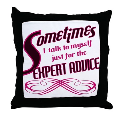 Expert Advice Throw Pillow by thepluralmind
