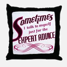 Expert Advice Throw Pillow