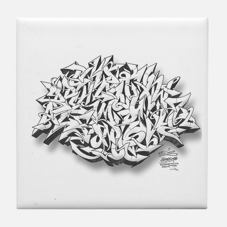 Graffiti A-Z Tile Coaster
