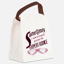 Expert Advice Canvas Lunch Bag