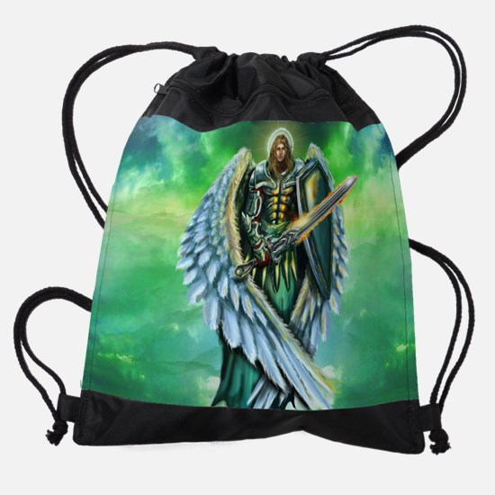 Angel Michael Drawstring Bag