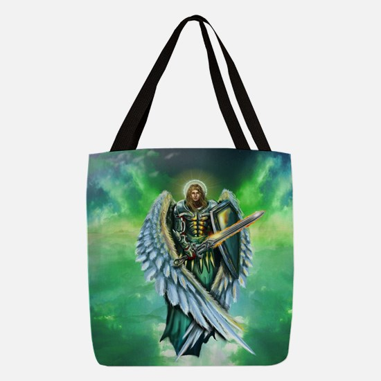 Angel Michael Polyester Tote Bag