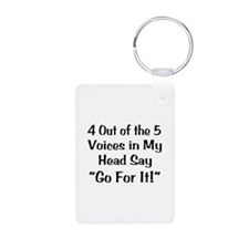 4 Out of the 5 Voices Aluminum Photo Keychain