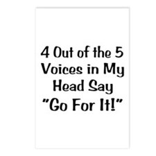 4 Out of the 5 Voices Postcards (Package of 8)
