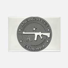 American Gun Enthusiast Rectangle Magnet