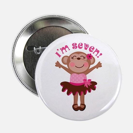 "7th Birthday Monkey 2.25"" Button"
