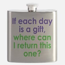 Each Day is a Gift Flask