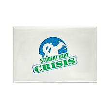 Student Debt Crisis Rectangle Magnet