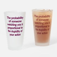 Proportional Stupidity Drinking Glass