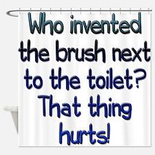 Toilet Brush Shower Curtain