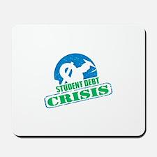 Student Debt Crisis Logo Mousepad