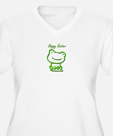 Cute Hoppy Easter Frog Plus Size T-Shirt