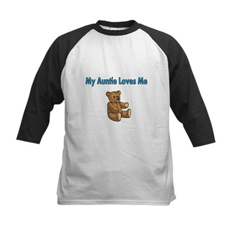 My Auntie Loves Me with Cute Teddy Bear Baseball J