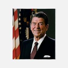 President Ronald Reagan Throw Blanket