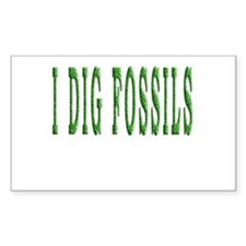I Dig Fossils Decal