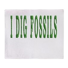 I Dig Fossils Throw Blanket