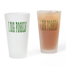 I Dig Fossils Drinking Glass