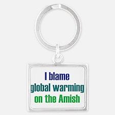 Global Warming Amish Landscape Keychain