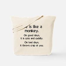 monkey_life1.png Tote Bag