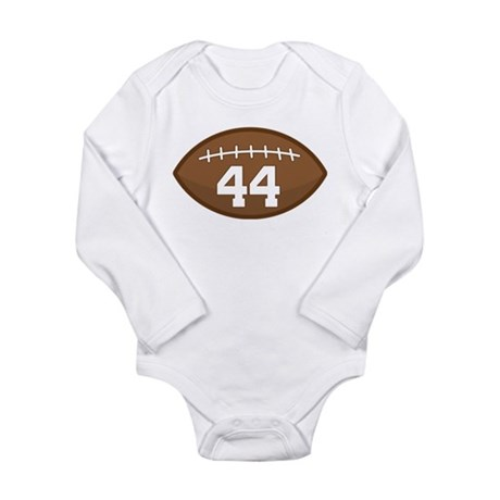 Football Player Number 44 Long Sleeve Infant Bodys