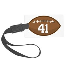 Football Player Number 41 Luggage Tag