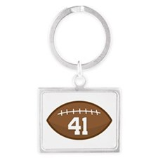 Football Player Number 41 Landscape Keychain