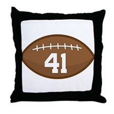 Football Player Number 41 Throw Pillow