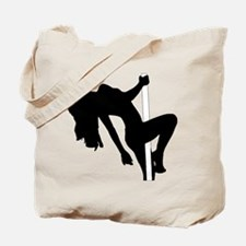 Sexy Pin Up Stripper Silhouette Tote Bag