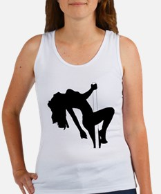 Sexy Pin Up Stripper Silhouette Tank Top