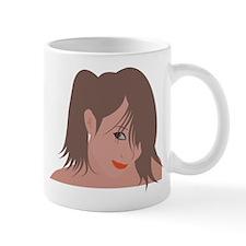 Pin Up Girl Head Shot Mug