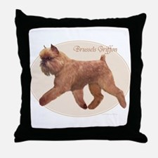 Red Griff Oval Throw Pillow