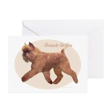 Red Griff Oval Greeting Cards (Pk of 10)