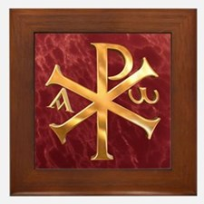 Chi-Rho Framed Tile