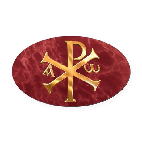 Chi-Rho Oval Car Magnet