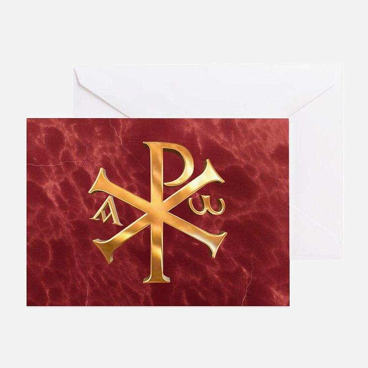 Chi-Rho Greeting Card
