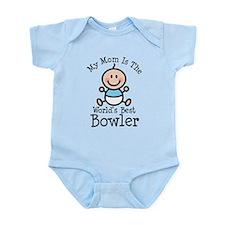 Mom is Worlds Best Bowler Infant Bodysuit