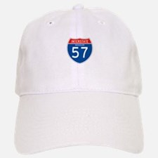 Interstate 57 - MO Baseball Baseball Cap