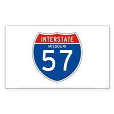 Interstate 57 - MO Rectangle Decal