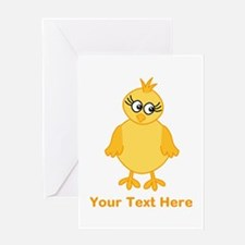 Cute Chick with Text. Greeting Card
