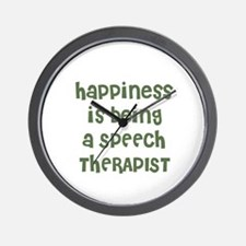 Happiness is being a SPEECH T Wall Clock