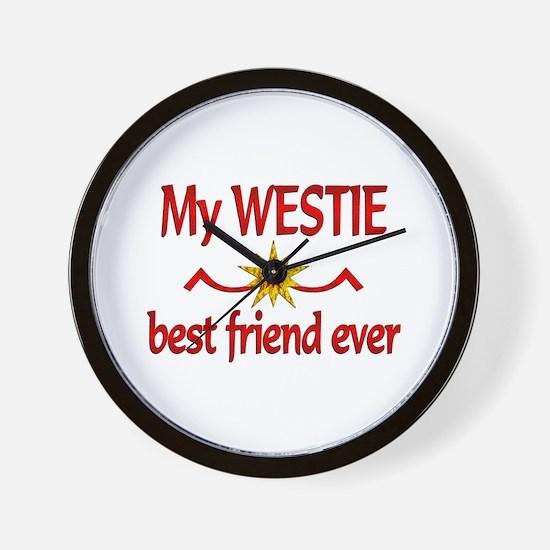 Westie Best Friend Wall Clock