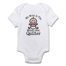 Mom is Worlds Best Quilter Infant Bodysuit