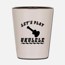 Let's Play Ukulele Shot Glass