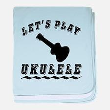 Let's Play Ukulele baby blanket