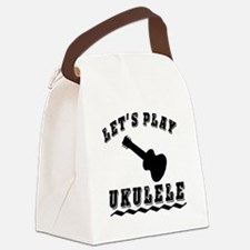 Let's Play Ukulele Canvas Lunch Bag