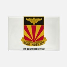 1st BN 56th Air Defense with Text Rectangle Magnet