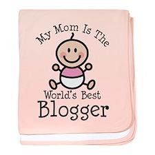 Mom is Worlds Best Blogger baby blanket